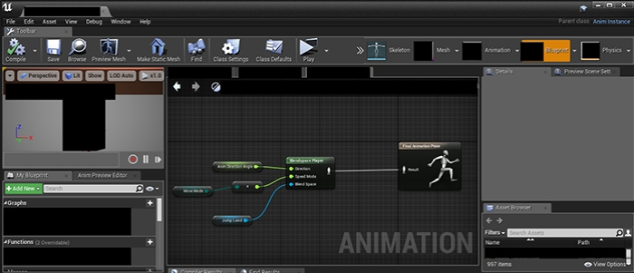 Production diary of censored due to nda week 4 smacking ones another animation blueprint this sequence of nodes tells the character to do something else malvernweather Images