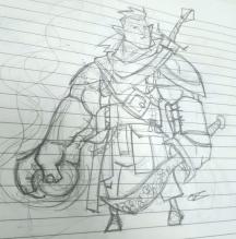 Fjord_Pencil Sketch